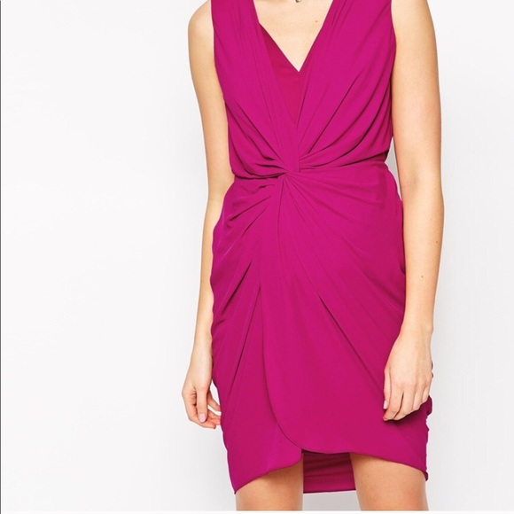 ASOS Maternity Dresses & Skirts - ASOS • maternity plunge twist knotted draped dress